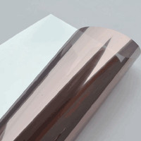 6pcs 76cm x 600cm one way solar mirror insulation window film self adhesive privacy glass stickers sunscreen Bronze film