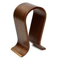 Wooden Headphones Stand Headset Holder Display Racks Hanger Shelf Bracket Earphone Accessories Headphone Stand Holder
