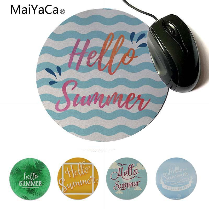 Yinuoda Personalized Cool Fashion Hello Summer DIY Design Pattern Game Lockedge mousepad 200x200mm 220x220mm Round Mouse Pad