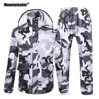 Mountianskin New Women Men's Waterproof Softshell Jackets Spring Outdoor Camping Fishing Pants Windbreaker Rain Coat Suits VA236
