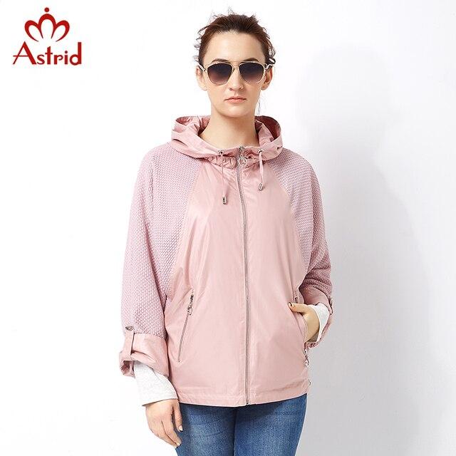 Astrid 2018 women Trench Coat Plus Size pleated Women Windbreaker Spring Autumn Coat short Big Size coat female casual AS-2797