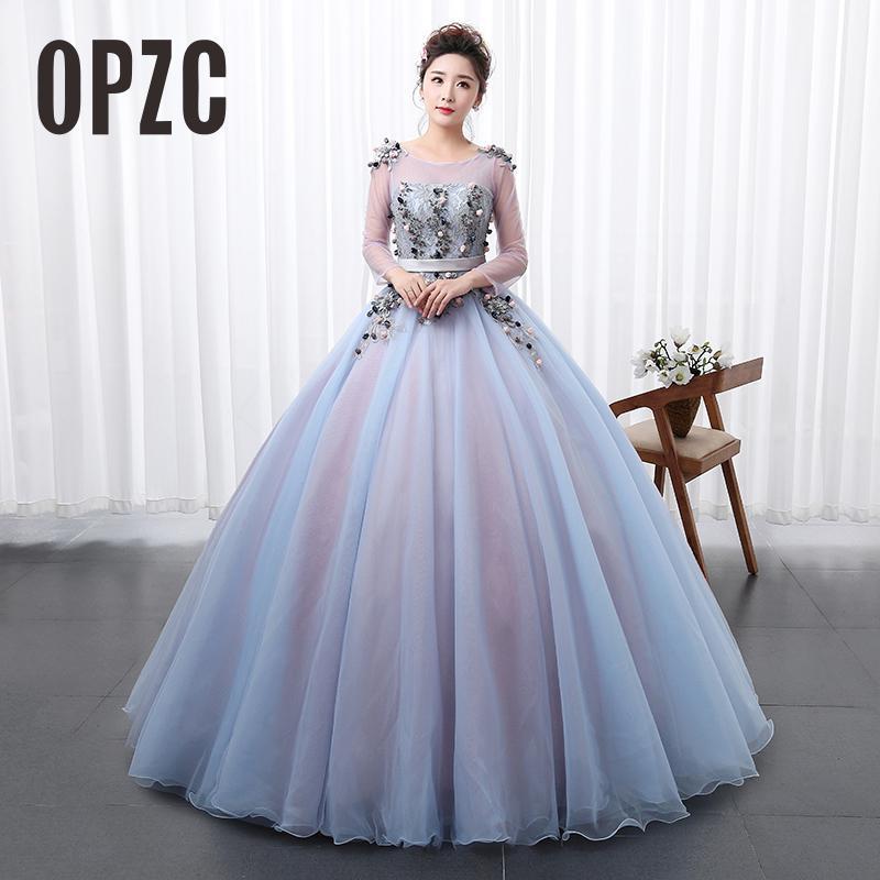 High Quality Organza Girls Colored Wedding Dress 2018 New