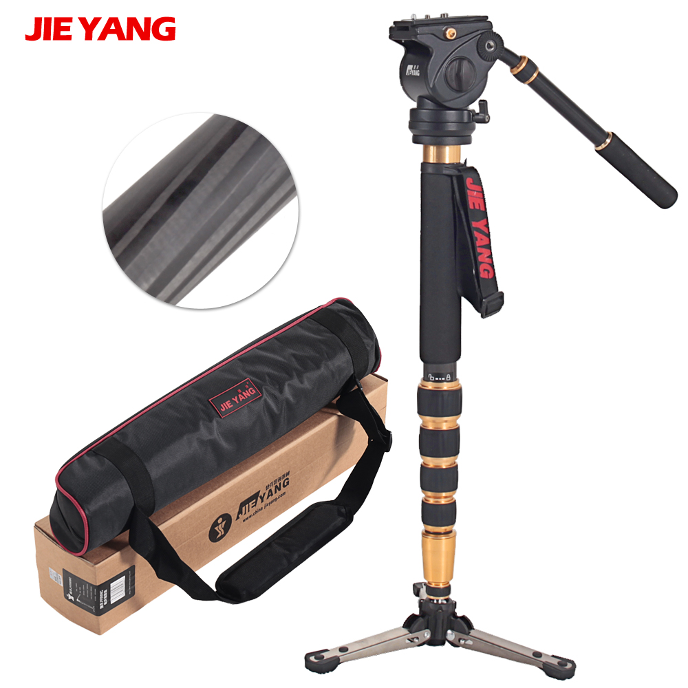 JIEYANG JY0506C Carbon Fiber Professional Monopod Light-weigh For Video & Camera Video Tripod 5KG Load пиканта рататуй 520 г