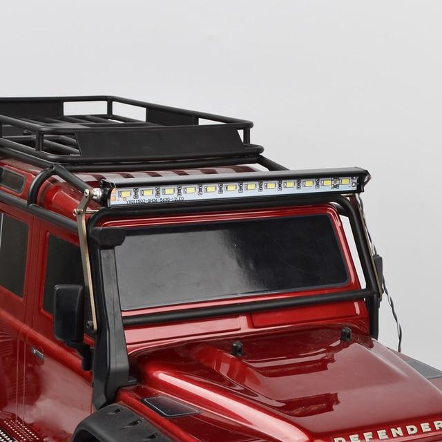 1/10 RC Super Bright Metal LED Light Bar for 1/10 Crawler Traxxas Trx 4 Trx4 Upgrade Accessories