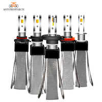 2pcs H7 LED Car Light Bulb 3 colors H4 H1 H11 9005 H1 4300K 3000K 6500K CSP Car Headlight HID Bulbs Car Accessories 12V 72W EJ