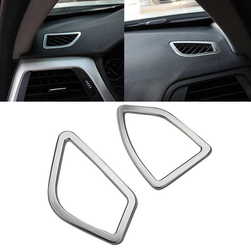2 pcs ABS כרום מצופה לוח מחוונים מזגן Vent Outlet Trim כיסוי עבור BMW 3 סדרת F30 316 318 2013 -2016
