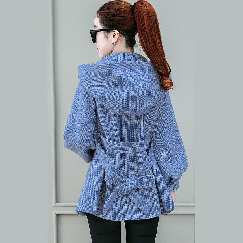 L'hiver Femme gray Blue Outwear Vestes Ky321 Sauvage Femmes Petit Hiver Laine Automne Épaississement pink 2018 Début Manteau Taille Homme Nouvelle De HBwOUxw