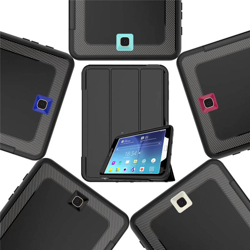 New Magnetic Smart Cover For Samsung Galaxy Tab S2 8.0 Case Shockproof Heavy Duty Rubber Hard Case SM-T715 T710 Auto Wake /Sleep дырокол deli heavy duty e0130
