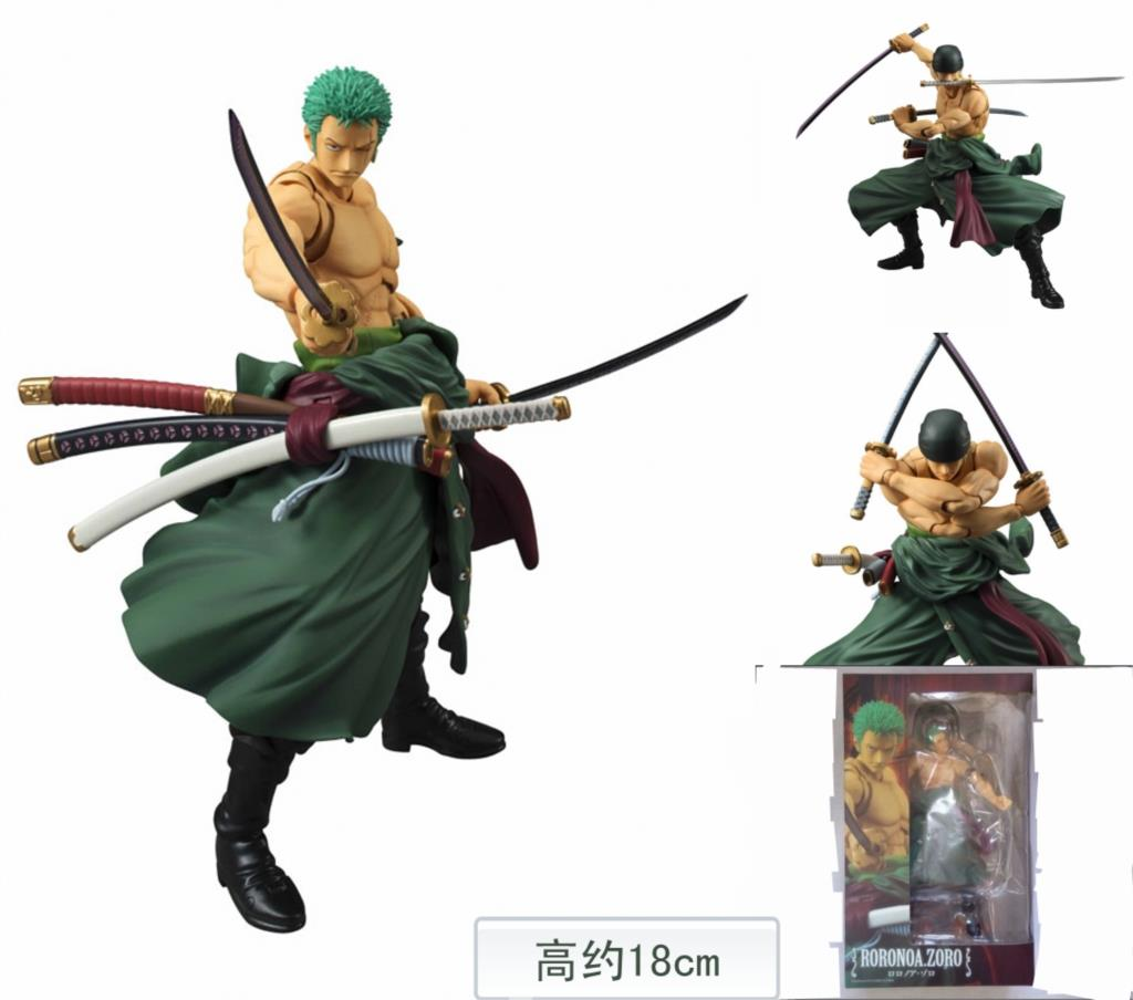 MegaHouse Variable Action Heroes One Piece Roronoa Zoro PVC Action Figure Collectible Model Toy 18cm one piece action figure roronoa zoro led light figuarts zero model toy 200mm pvc toy one piece anime zoro figurine diorama