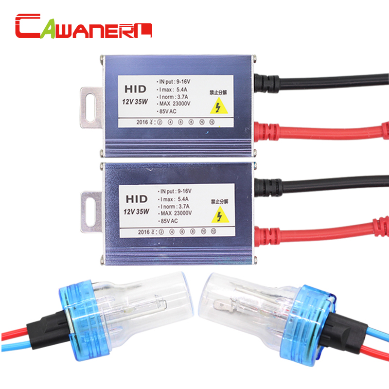 Cawanerl 35W H1 H3 H7 H8 H9 H11 880 881 9005 HB3 9006 HB4 HID Xenon Kit Ballast Bulb 4300K Car Light Headlight Fog Lamp DRL