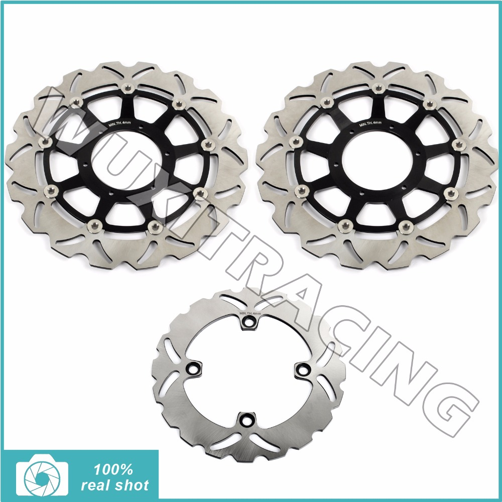 цены  Full Set Front Rear Brake Discs Rotors for Honda CBR 1000 RR CBR1000RR 2006 2007 VTR 1000 SP1 SP2 2000 2002 2003 2004 2005 06 07