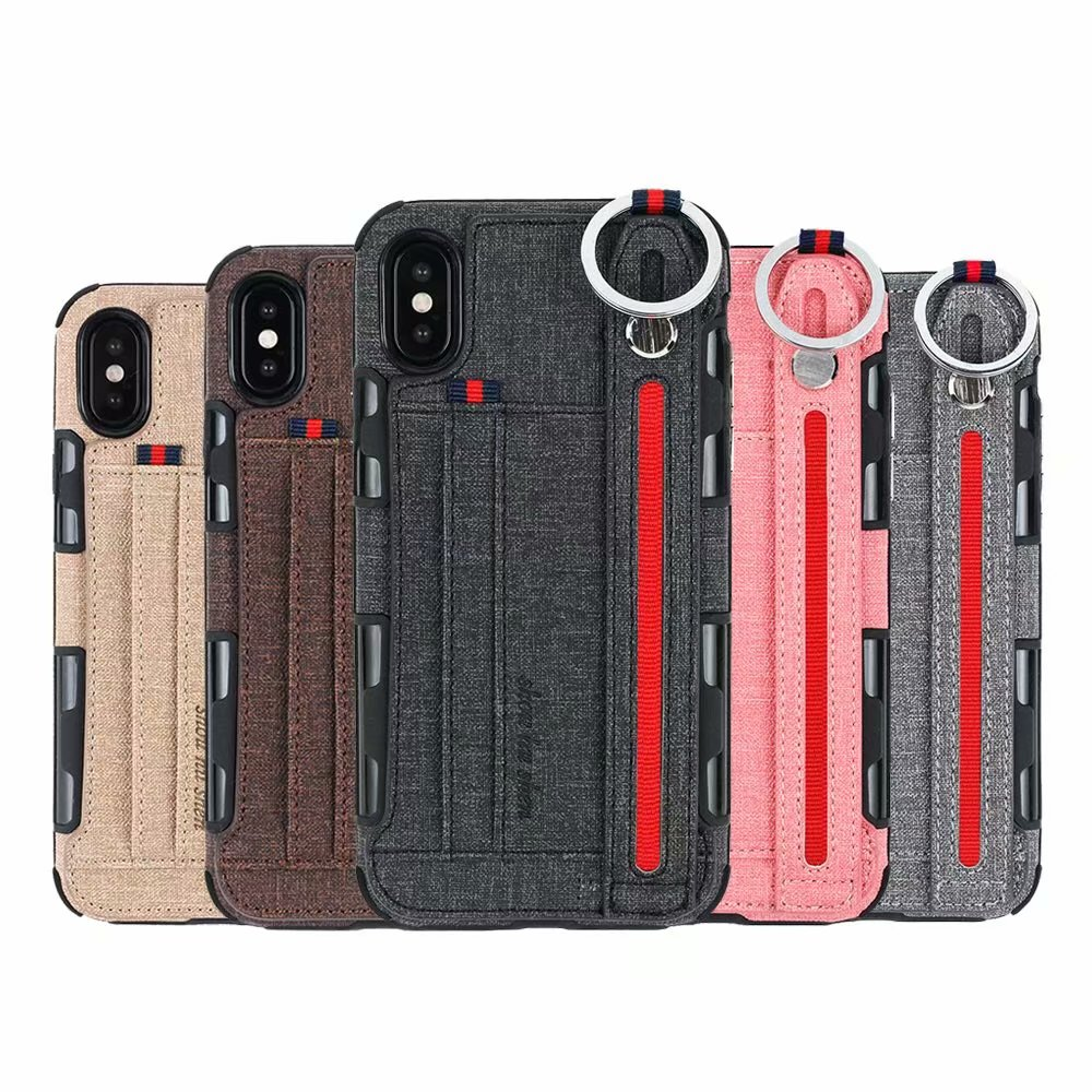 sale retailer b654f 0ce4b US $4.2  ProElite Multifunction Wrist Strap Card Holder Wallet Stand Case  for iPhone X Colorful TPU Key Ring Capa for iPhone 8 7 6 Plus-in Wallet ...