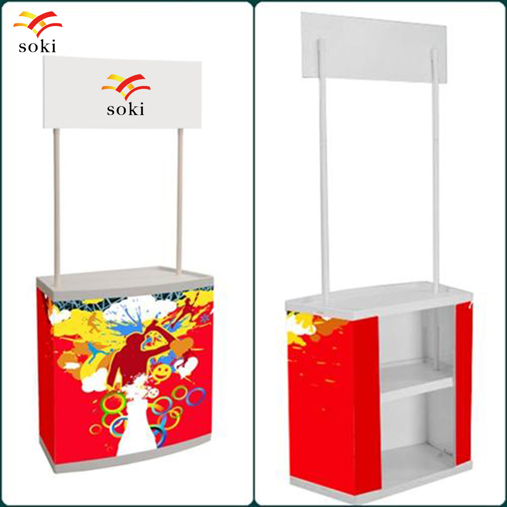 Exhibition Stand Logo : High quality promotional table display banner stand