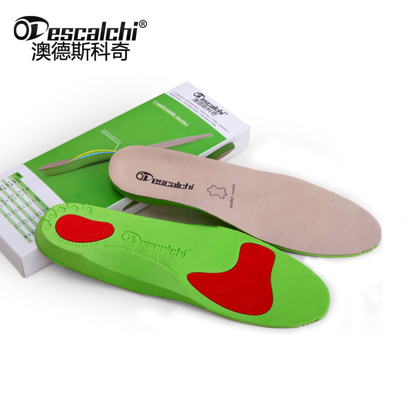Odescalchi Leather Arch Support Orthotics Orthopedic Insoles Foot Care for Men and Women expfoot orthotic arch support shoe pad orthopedic insoles pu insoles for shoes breathable foot pads massage sport insole 045