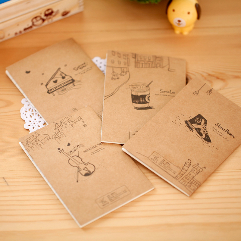DL K002 Korean stationery wholesale back to the old cute little book cartoon notebook Stationery office supplies for students