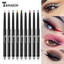 Double-end Colorful Matte Eyeliner Eye Pencil Makeup Crayon Yeux Oogpotlood Delineador Maquiagem White Black Eye Liner Eyeshadow(China)