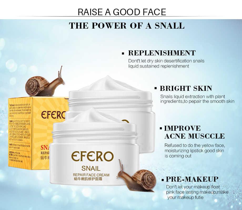 EFERO مكافحة الشيخوخة الحلزون جوهر كريم وجه كريم تبييض الحلزون المصل رطبة مغذية رفع الوجه العناية بالبشرة المضادة كريم للتجاعيد