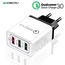 3 USB Charger Quick Charge 3.0 Fast Charging Adapter 24W Mobile Phone QC Wall USB Cable Charger for iPhone Samsung Huawei Xiaomi 3 usb charger quick charge 3 0 fast charging adapter 24w mobile phone qc wall usb cable charger for iphone samsung huawei xiaomi