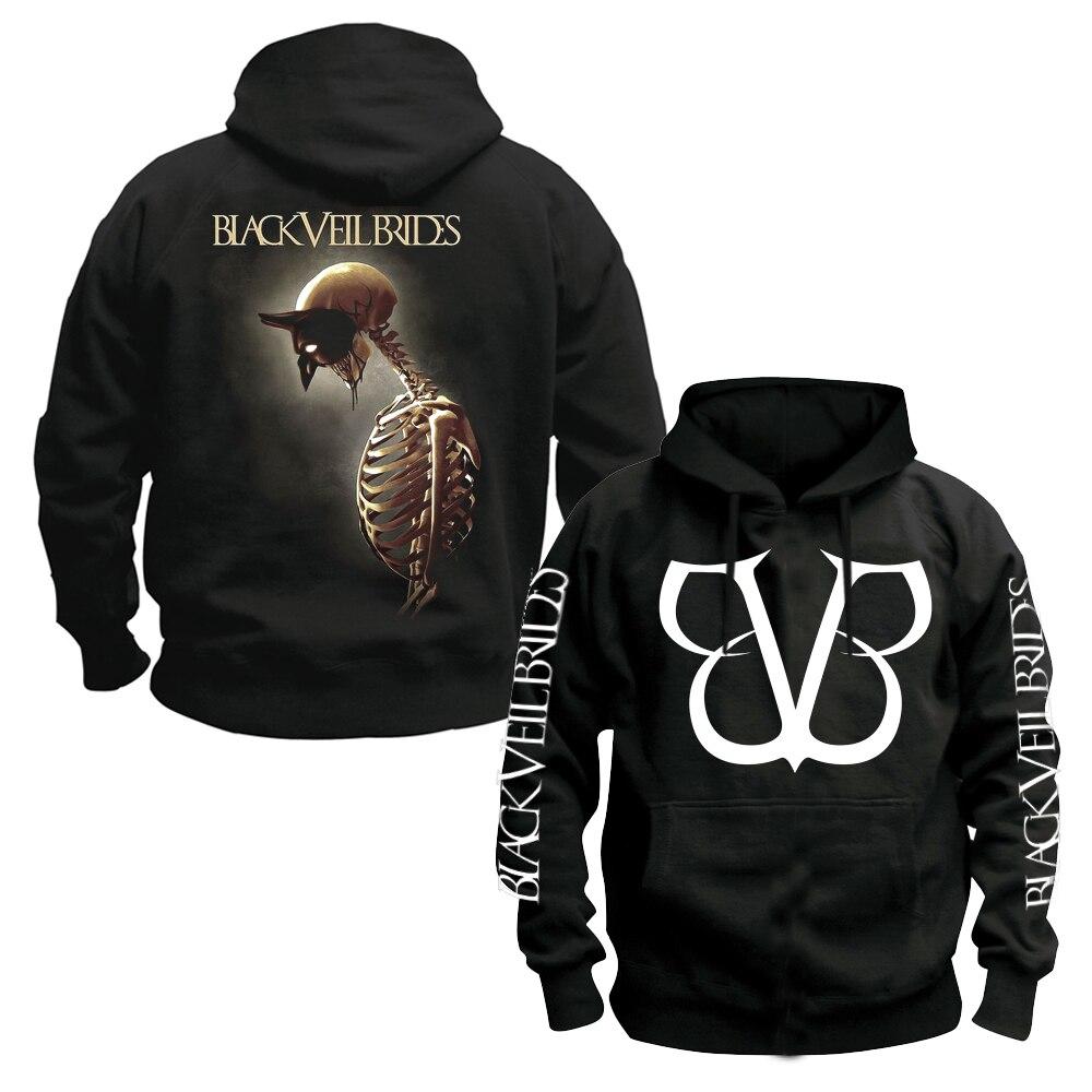 Bloodhoof Black Veil Brides Mist Black BVB худи post hardcore cruamo rock черная хлопковая толстовка азиатского размера - 2