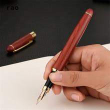 ¡Novedad! pluma estilográfica de madera roja de alta calidad para oficina de estudiantes