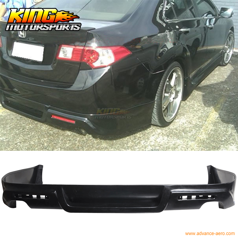 For Acura TSX Sedan JDM Rear Bumper Lip Spoiler PU Poly - Acura tsx bumper