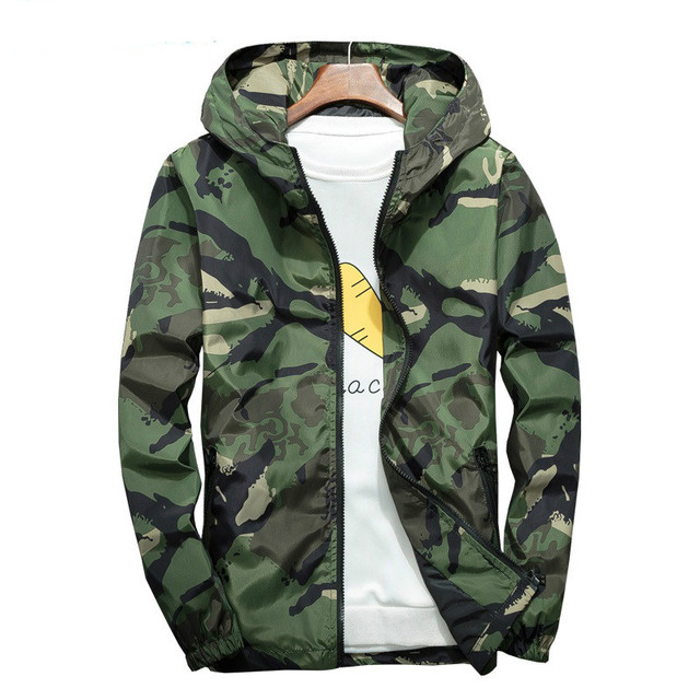 23c84ad20 US $14.91 49% OFF|5XL 6XL 7XL Camouflage Windbreaker Jacket Men Autumn  Winter Waterproof Camo Bomber Jackets Male Military Coats Hooded Casual-in  ...