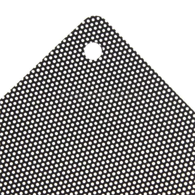5PCS/lot 120mm Cuttable Black PVC PC Fan Dust Filter Dustproof Case Computer Mesh 2