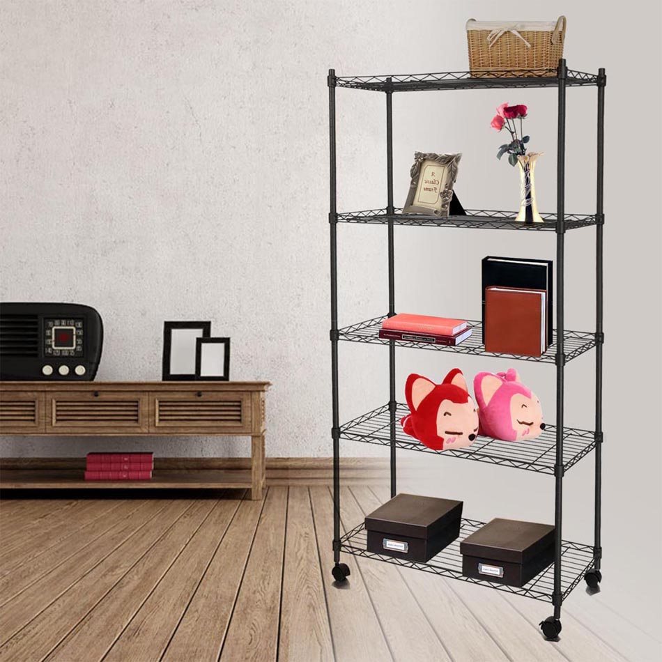 Homdox Metal Wire Storage Rack Shelving Rack Shelving 14 X 29 X 61inch For  Kitchen Toy