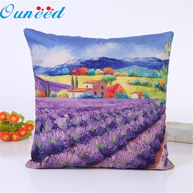 My House Lavender Sofa Bed Home Decor Pillow Case Cushion Cover 2017 New  Hot Sell 17Mar7