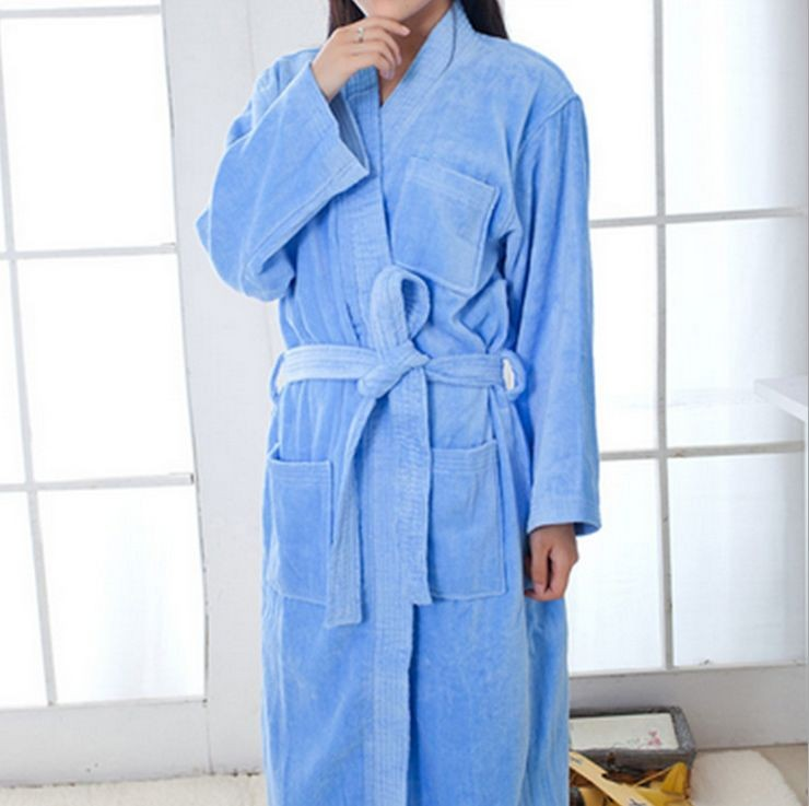 Women\'s Mid-Calf Cotton Sleep Lounge Robes RBS-D RB27 1