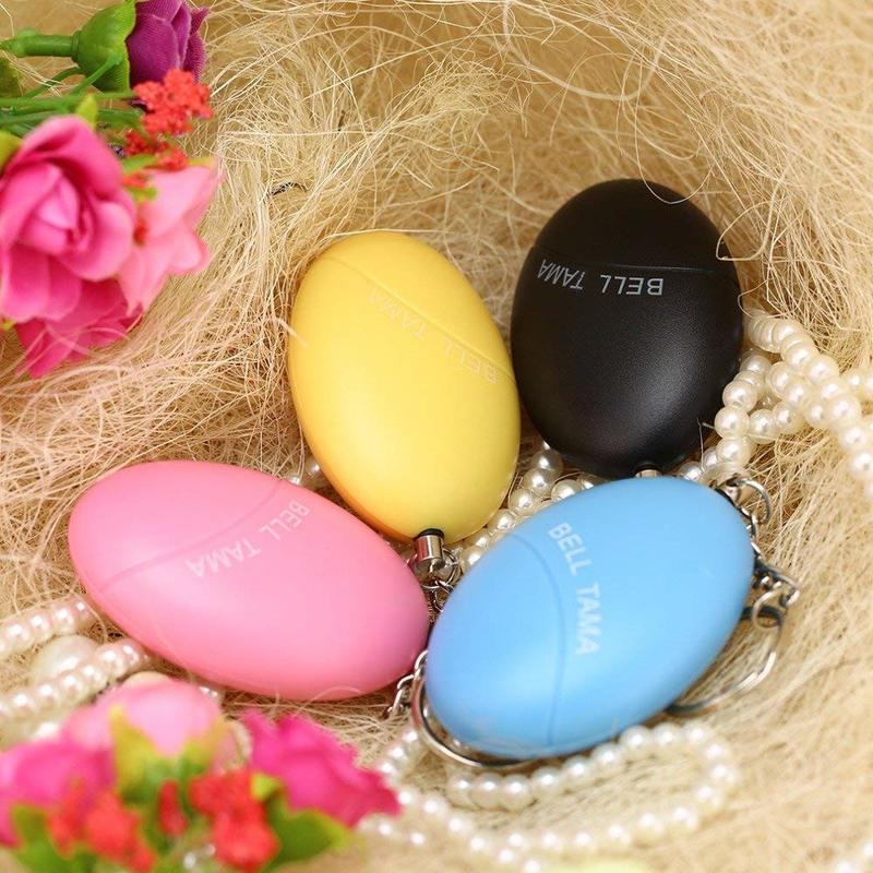 20pcs/Lot Egg Shape Self Defense Alarm Girl Women Security Protect Alert Personal Safety Scream Loud Keychain Alarm