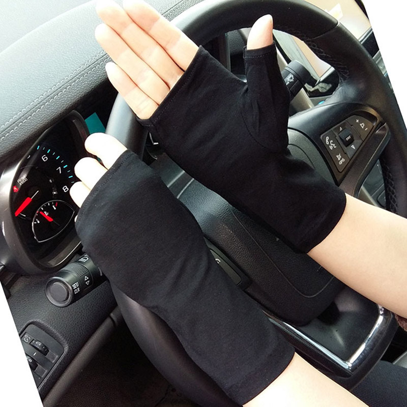 Female Sports Fitness Cycling Sunscreen Fingerless Touch Screen Gloves Women Thin Cotton Fashion Half Finger Driving Gloves B84