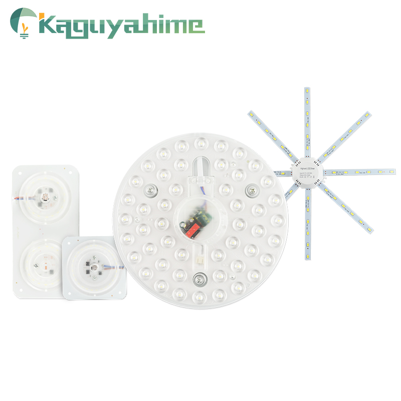 Kaguyahime Módulo de LED Mini/Polvo/Rodada Painel de Luz Da Lâmpada do Tubo da Lâmpada 220V 12W 18W 24W  Fonte de Luz Interior Luz de Teto Holofotes