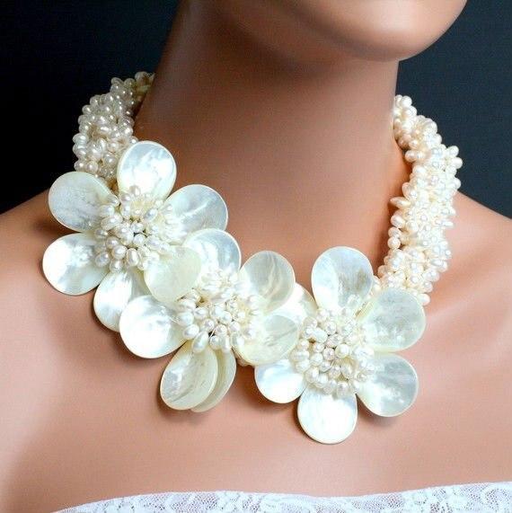 ¡Joyería de boda collar de perlas de agua dulce princesa + regalo y envío gratis!-in Collares tipo gargantilla from Joyería y accesorios    1