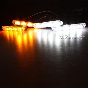 Image 5 - 4x4LED kablosuz uzaktan 12V stroboscopes çakarlı lamba fso polis lambası yanıp İtfaiyeciler araba ışıkları kamyon ışık LED DRL ambulans