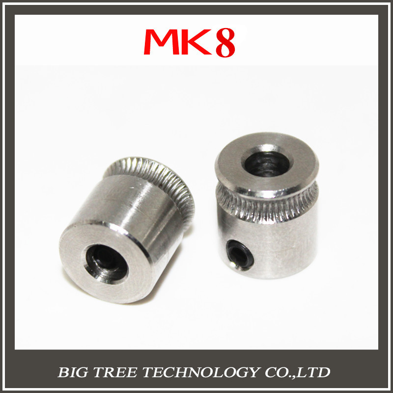 2pcs-lot MK8 Extrusion Gear 1.75MM or 3MM for Reprap Makerbot 3D Printer 9*5*11mm