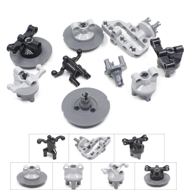 5 Sets/Lot Compatible with <font><b>legos</b></font> <font><b>Technic</b></font> Suspension Steering Hub Portal Axle Housing Drive Combination MOC Brick Block Toys image