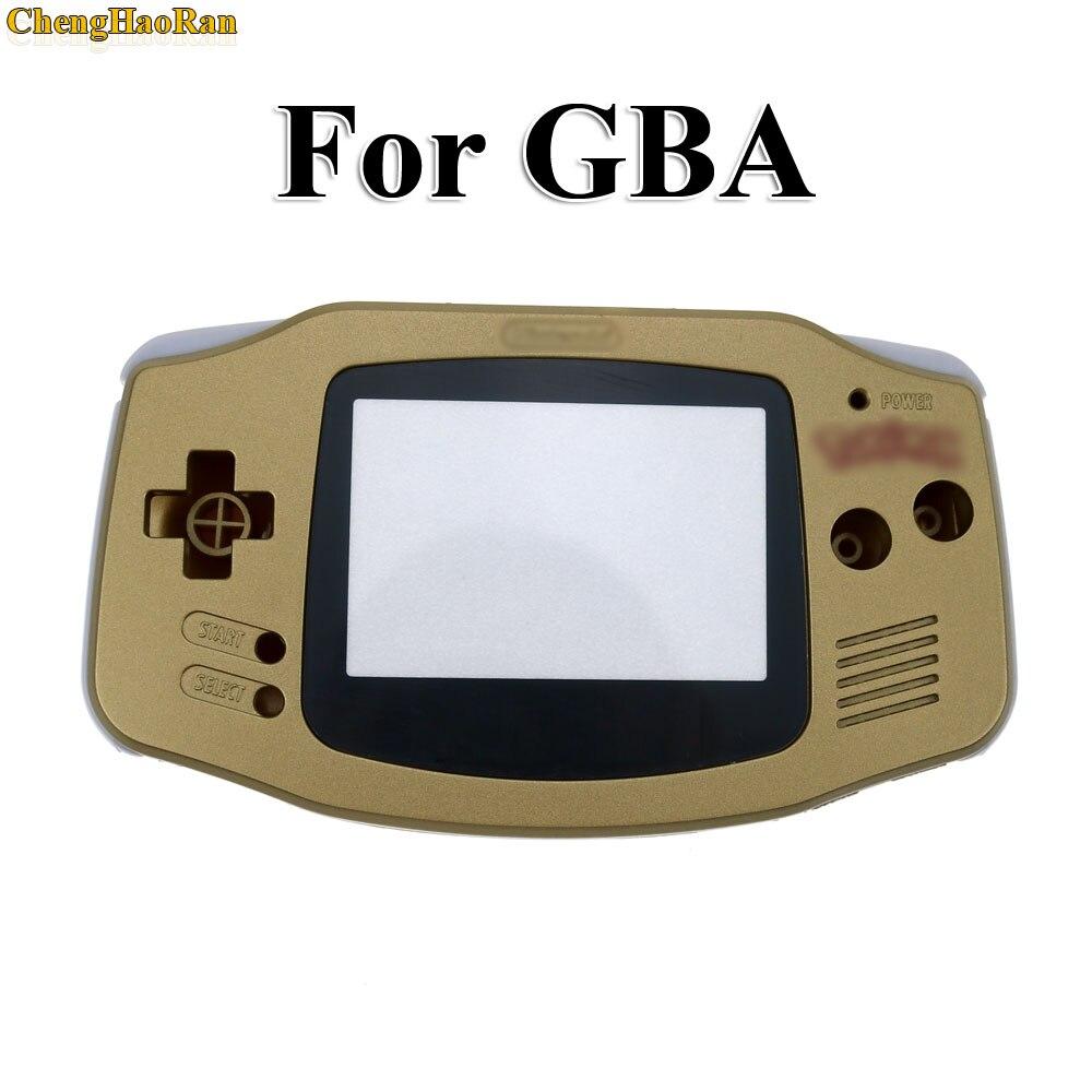 Image 2 - ChengHaoRan 5 комплектов Золотой золотистый корпус Корпус для Gameboy Advance GBA с pika chu Pokemon протектор объектива экрана-in Чехлы from Бытовая электроника