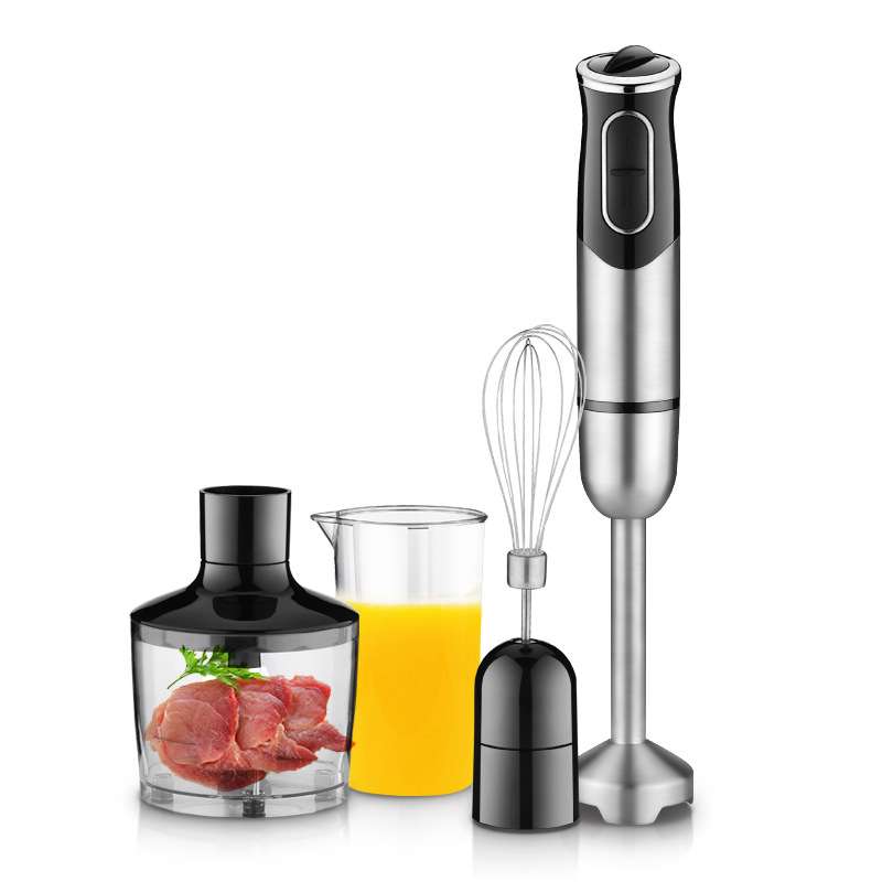 600ML Immersion Blender with Chopper Whisk and Double-Edged Stainless Steel Blade