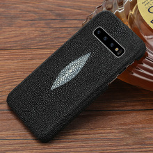 Case For galaxy s10 LANGSID Genuine stingray leather phone Cover for Samsung s10 plus luxury Black case stingray capa for s10+ charming pure silver arrow bracelet with luxury blue stingray leather cords genuine mens stingray cuff bracelet with silver hook