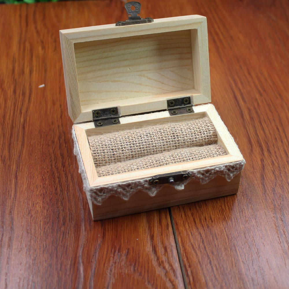 Robust Custom Wedding Ring Box Engagement Personalized Wooden Ring Bearer Storagebox Rustic Wedding Favor Gifts Ring Box Gift Bags Wrappingsupplies Custom Wedding Ring Box Engagement Personalized Wood wedding rings Ring Bearer Gifts