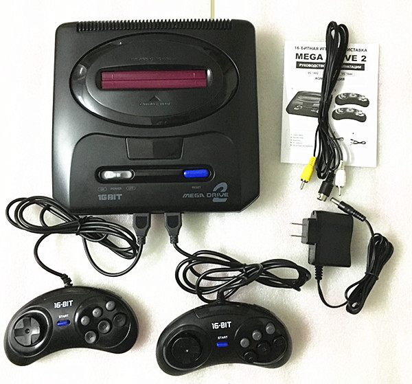 Image 2 - 16 bit SEGA MD 2 Video Game Console with US and Japan Mode Switch,for Original SEGA handles Export Russia with 55 classic games-in Video Game Consoles from Consumer Electronics
