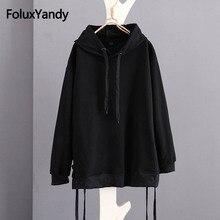 Loose Women Hoodie Women Casual Solid Sweatshirt Long Sleeve Plus Size 5XL 6XL KKFY2639 все цены