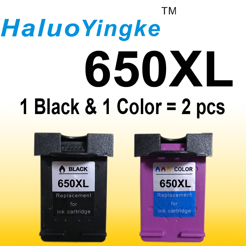 2 Pack Ink Cartridge Compatible for HP 650 XL for HP Deskjet Ink Advantage 1015 1515 2515 2545 2645 3515 3545 4515 4645 картридж hp 650 ink advantage cz102ae color для 2515 3515