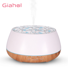 GIAHOL 400ml Aroma Essential Oil Diffuser Ultrasonic Aromatherapy Humidifier with LED Color Lamp for home Bedroom (White/Yellow)