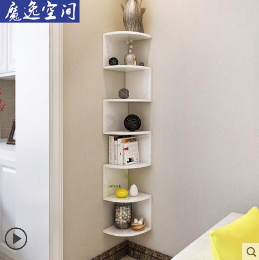 Corner bookshelf shelving wall hanging wall shelf wall corner rack shelf