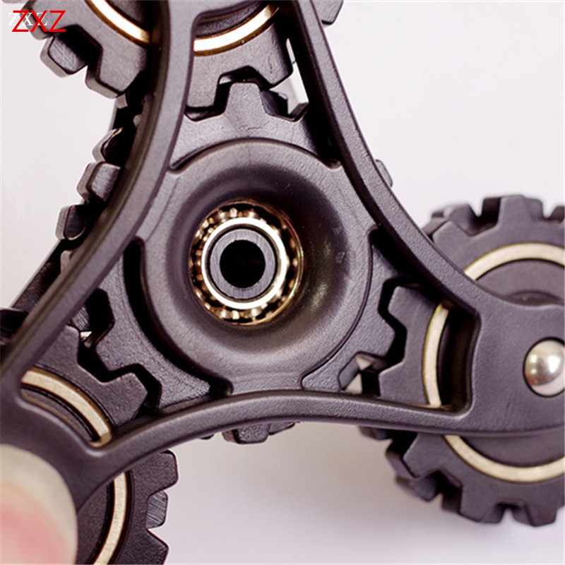 Gear Linkage EDC Hand Spiner Toy Fidget Tri Spinner Metal Finger Gyro For Autism ADHD Stress