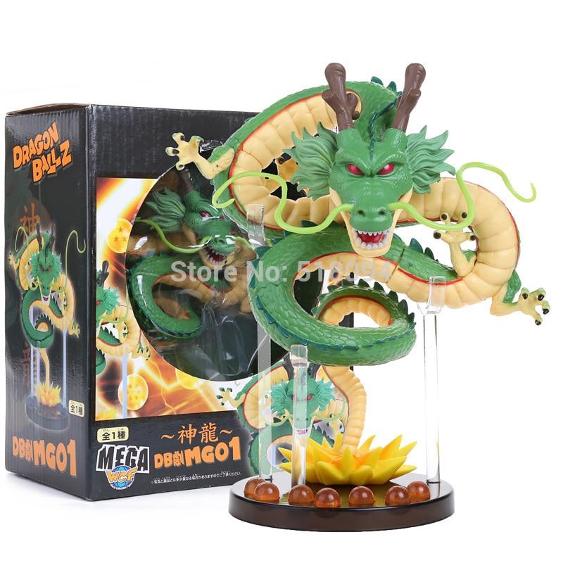 Anime Cartoon Dragon Ball Z ShenRon ShenLong PVC Action Figure Collectible Model Toy 14cm jp cartoon anime movie wcf dragon ball z shenron shenlong golden color pvc model toy dolls