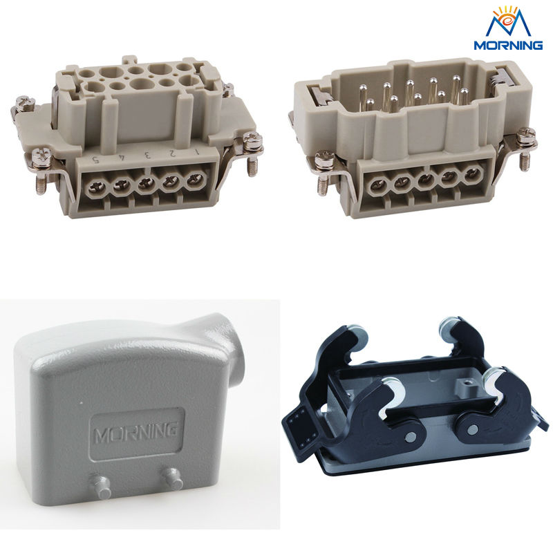 HE-010 16A 500V Whole set side entry Heavy Duty electronic Connector whole set selling 16 folding mother