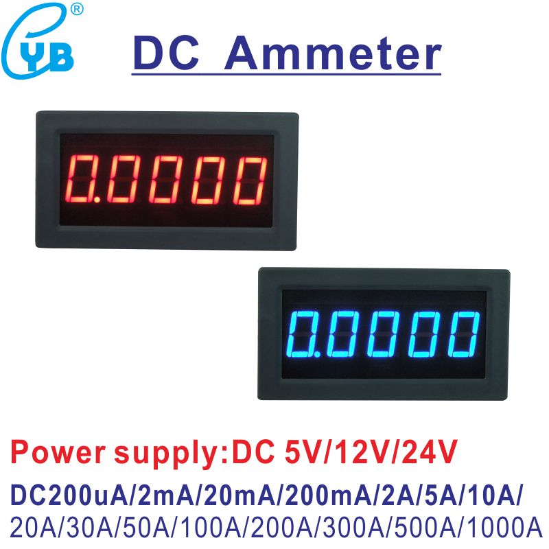 Responsible Yb5145b Led Digital Ammeter Dc Current Meter Amp Panel Meter 4 1/2 Ampere 100ua 200ua 2ma 200ma 2a 5a 10a 30a 50a 100a 300a 500a Measurement & Analysis Instruments